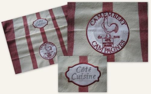 torchon camembert et coté cuisine