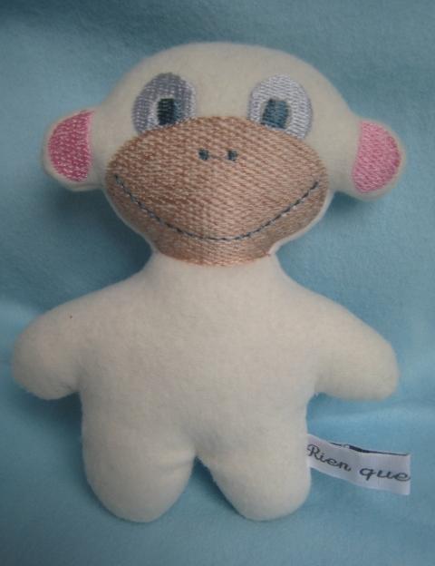 poupée mouton 15 cm haut