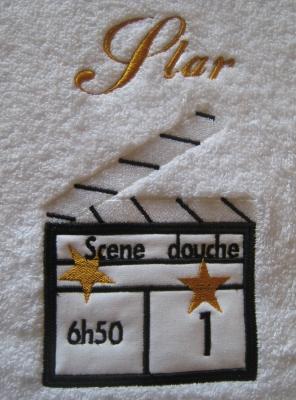 détail serviette star