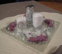 décoration bougies plat carré
