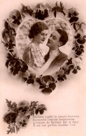 saint valentin carte ancienne