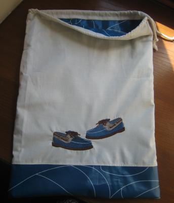 pochon chaussures homme intérieur plastifié