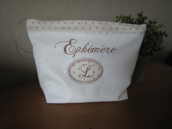 trousse de toilette simili cuir