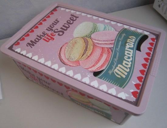 boite vintage cupcake et macarons