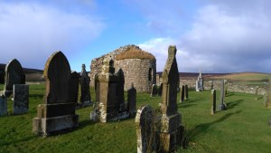 The Round Kirk, Orphir. 12th Century. Believed to have been commissioned by Earl Hakon Palsson, killer of St Magnus, after a pilgrimage to Jerusalem.