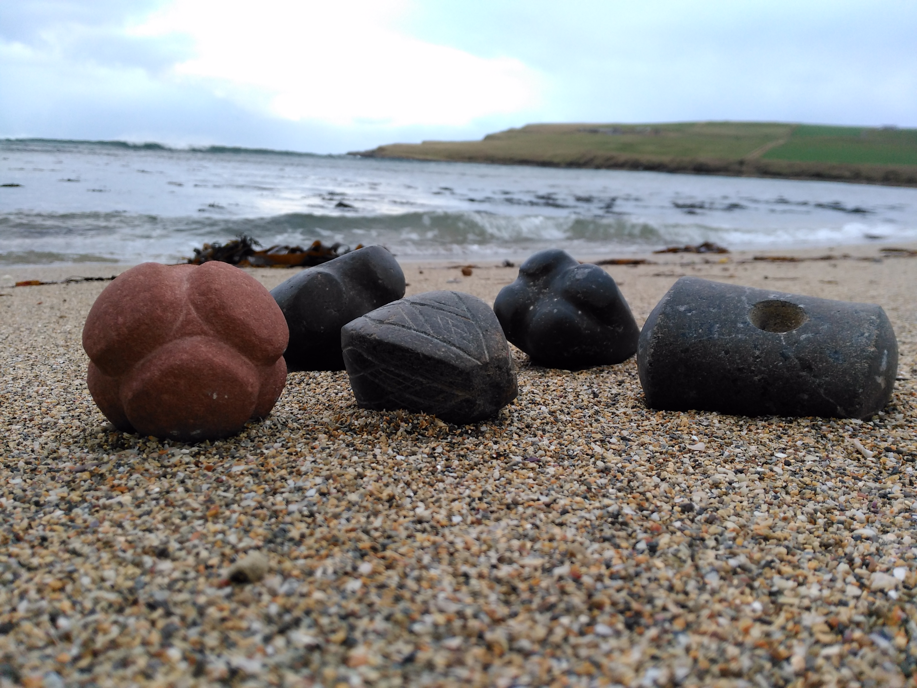 A selection of Neolithic carved stone objects by Chris Gee