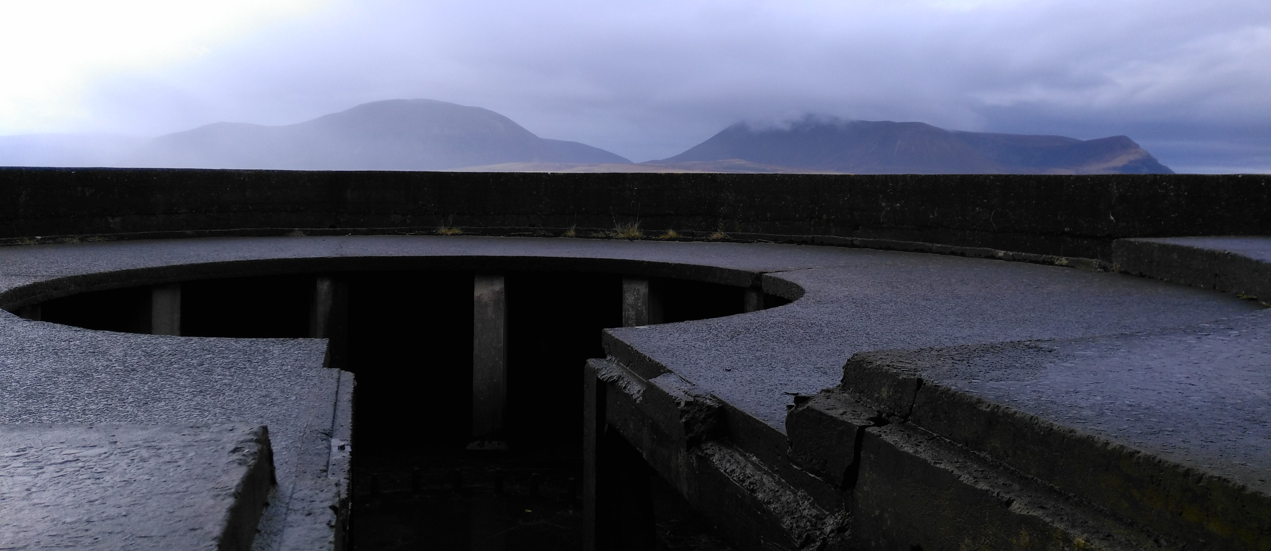 Gun emplacement at Ness Battery, Stromness