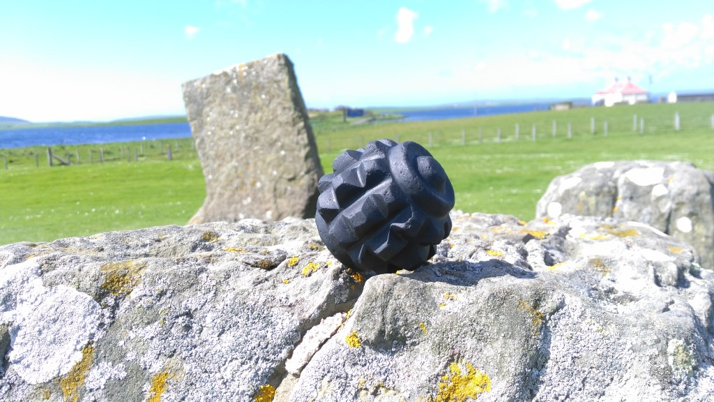 Carved stone ball from Orphir, by Chris Gee