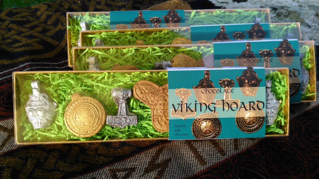 """Sveinn Asleifarson"": 4 Viking Hoard chocolate boxes."