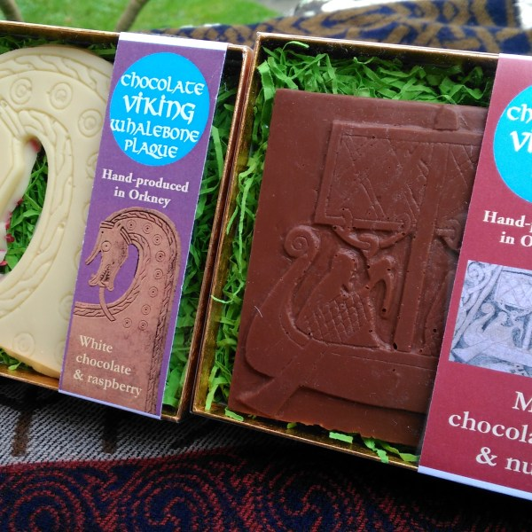 This pack of Viking archaeological chocolate commemorates Lifolf, cook to Earl Hakon and reluctant executioner of Saint Magnus.