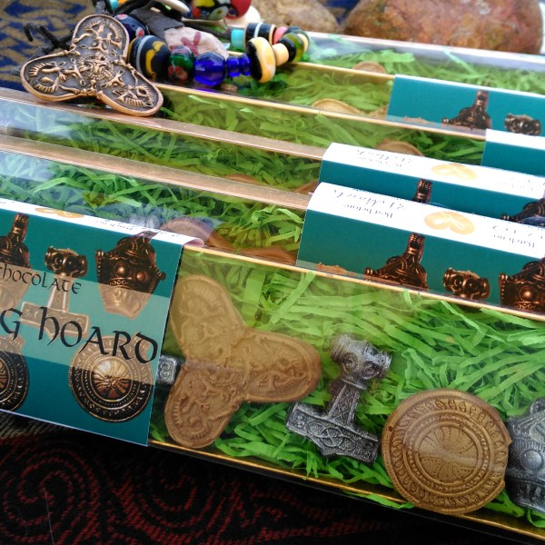 In the north west the great treasure is hidden. 5 Viking Hoard chocolate boxes.