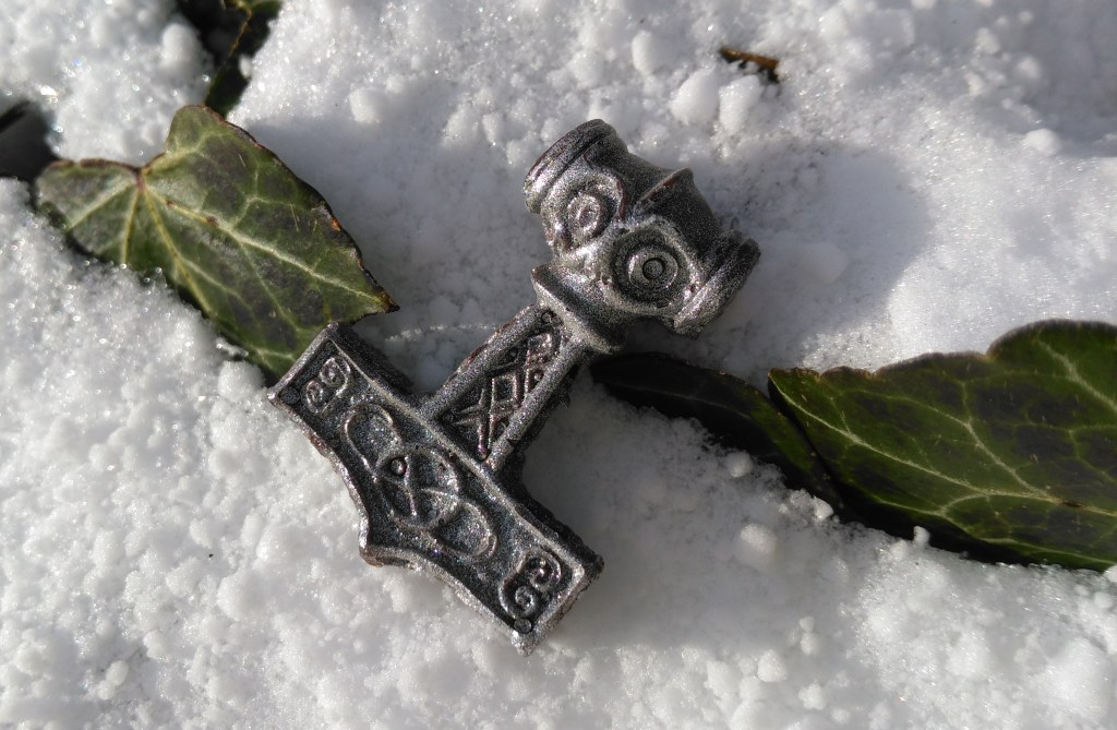 Viking Chocolate: Thor's Hammer. Made in dark chocolate. Part of the Viking Hoard chocolate box by Brodgar Archaeological Chocolate.