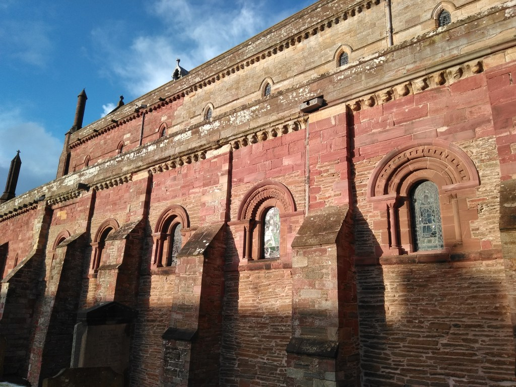Sunshine on the nave of St Magnus Cathedral, Orkney