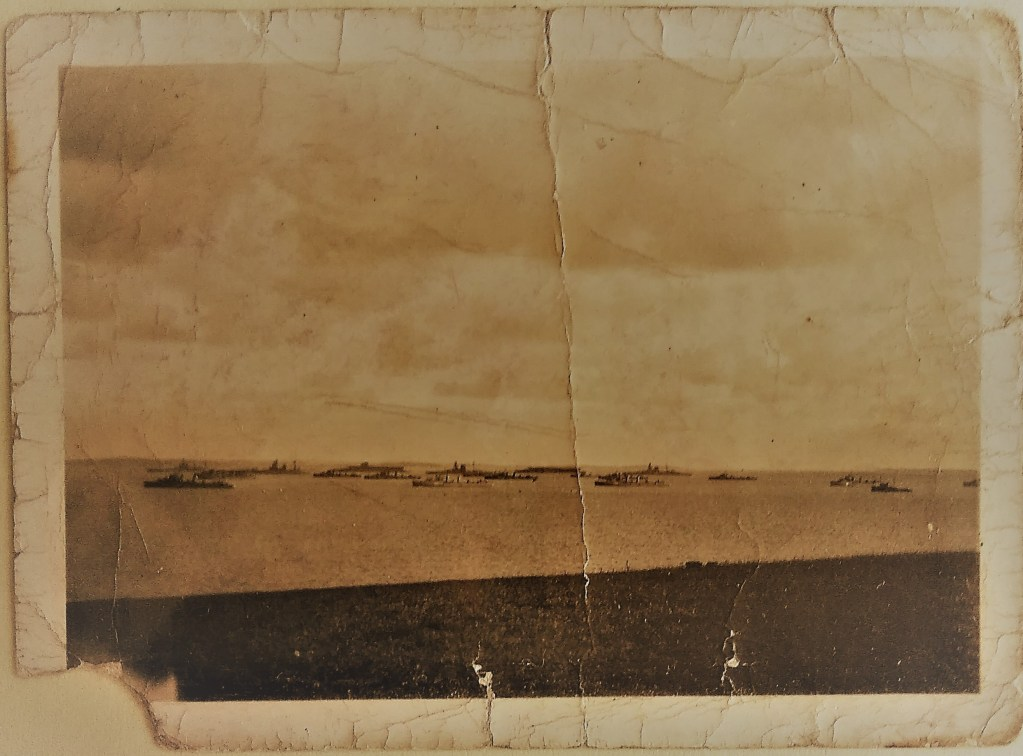 British Home Fleet in Scapa Flow photographed by Johnnie Meil from Dyke End, 1933