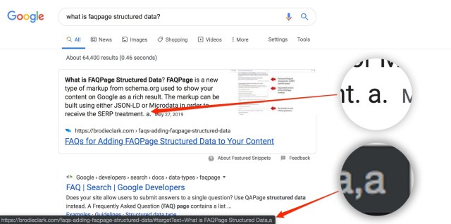 enhance in on this featured snippet