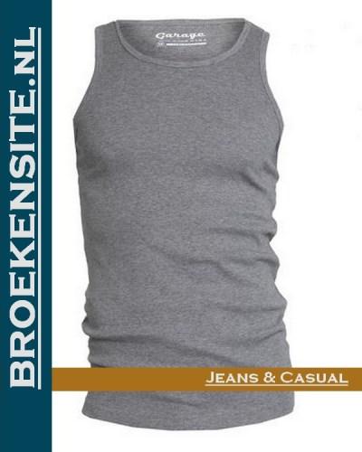 Garage Singlet Semi Bodyfit grijs G 0401-GR Broekensite jeans casual