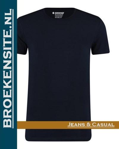 Garage T-shirt Bio-Cotton ronde hals navy (2-pack) G 0221-NV Broekensite jeans casual