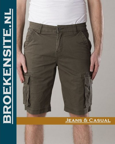 New Star Brisbane bermuda stretch army NS - 0204-BRISBANE-2-402 Broekensite jeans casual