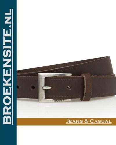 Riem Classic handgemaakt bruin TB 2130-BR Broekensite jeans casual