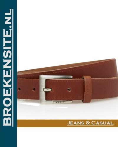 Riem Classic handgemaakt cognac TB 2130-CO Broekensite jeans casual