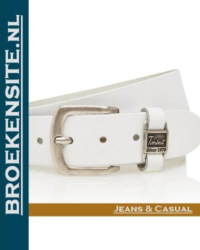 Riem Excellent handgemaakt wit TB 460-WI Broekensite jeans casual