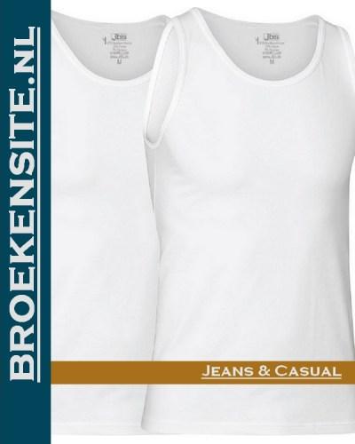 JBS Bamboo Singlet T-Shirt V-hals (2-pack) zwart JDS 11080 wit Broekensite jeans casual