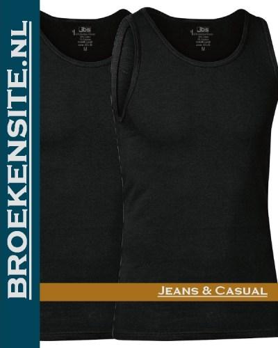 JBS Bamboo Singlet T-Shirt V-hals (2-pack) zwart JDS 11080 wit Broekensite jeans casual Z