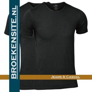 Bamboo t-shirt JBS zwart ronde hals (2-pack) Broekensite