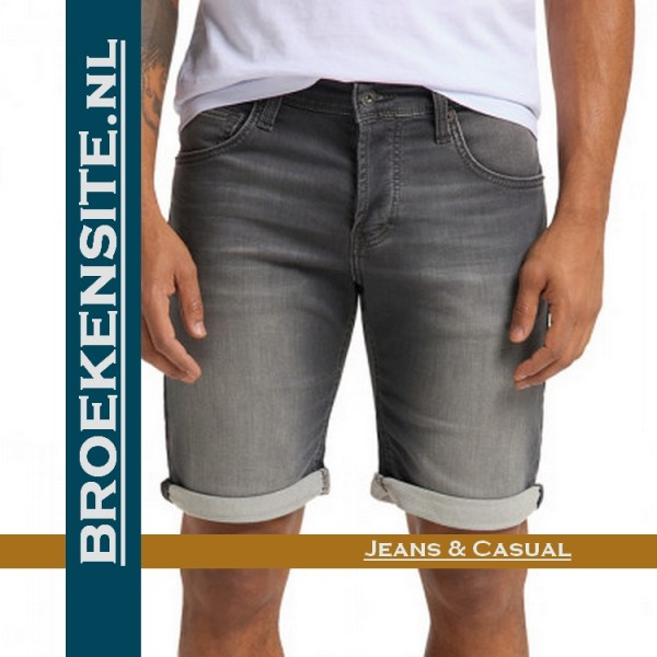 Mustang Chicago Short korte broek donkergrijs bermuda 1007755-4000-313 Broekensite jeans casual