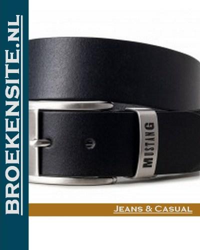 Mustang zwart met logo Broekensite