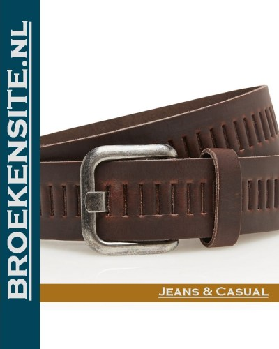 Riem Quality handgemaakt bruin TB 427-BR Broekensite jeans casual