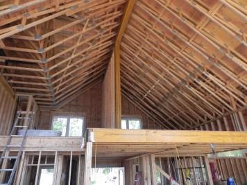 Mill Lake Cottage Loft Ceiling