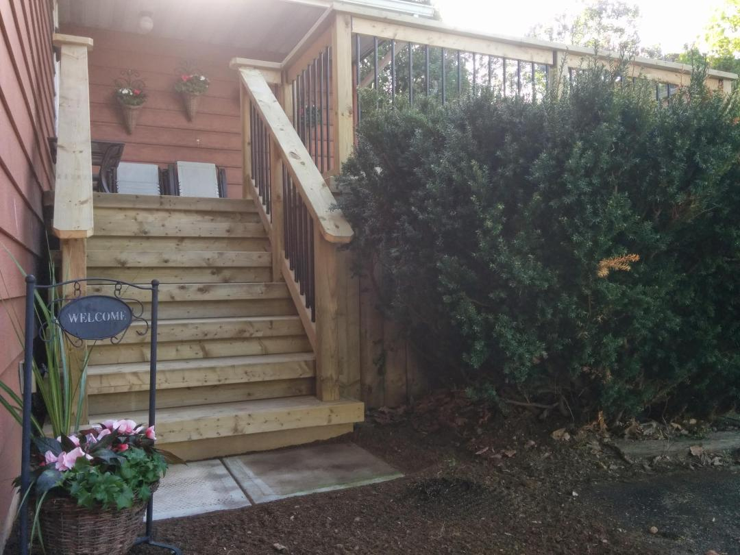 Gravenhurst Deck After Construction Front Stairs