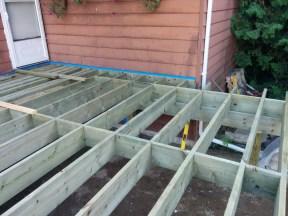 Gravenhurst Deck During Construction Deck Frame Built