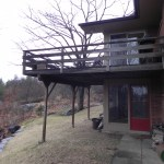 Sunset Drive Existing Deck Right Side View