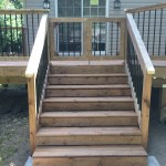 Innisfil Deck Rebuild - After Construction New Stairs Front View