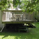 Innisfil Deck Rebuild - Before Construction Left Side View