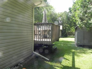 Innisfil Deck Rebuild - Before Construction Rear View