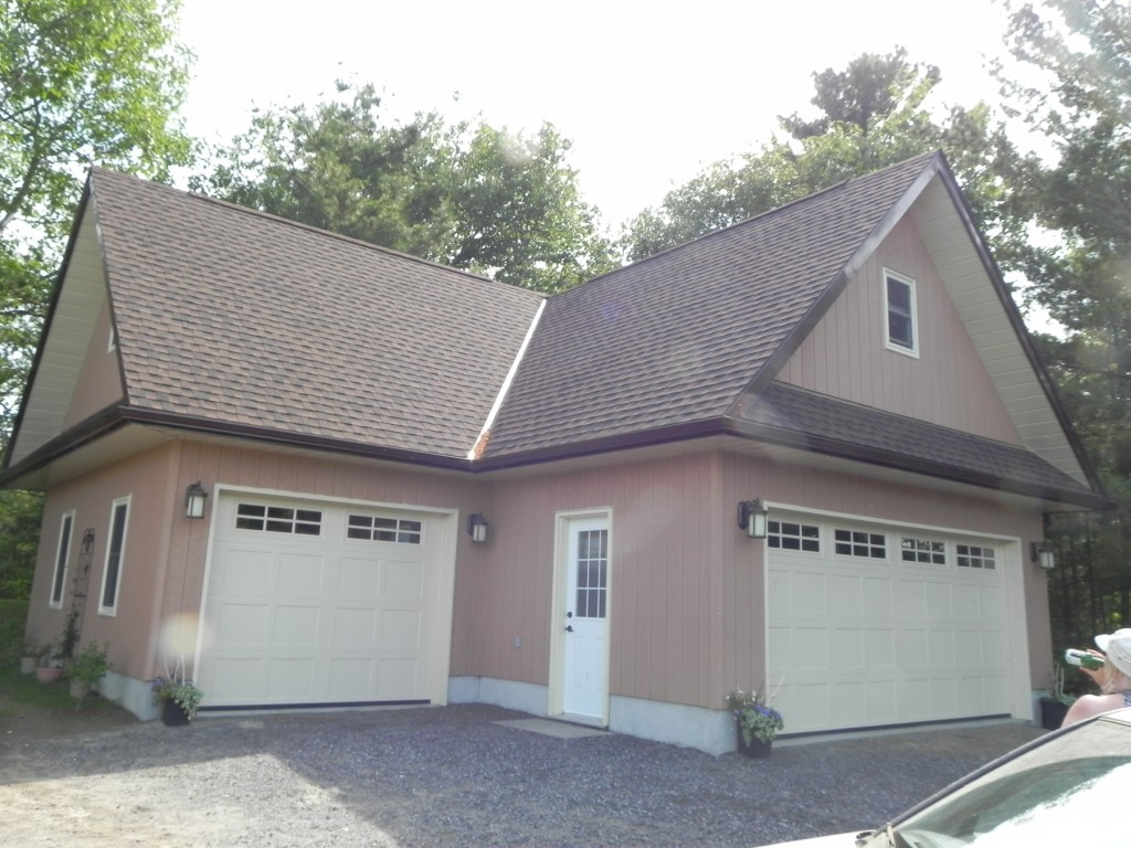 Partridge Bay Garage After Construction Front Left