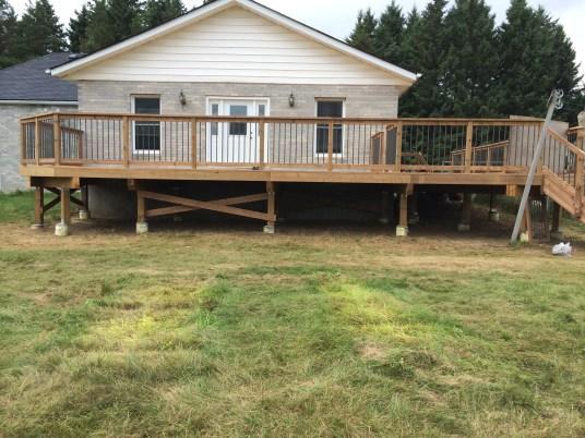 Uxbridge Deck - After Construction Front View