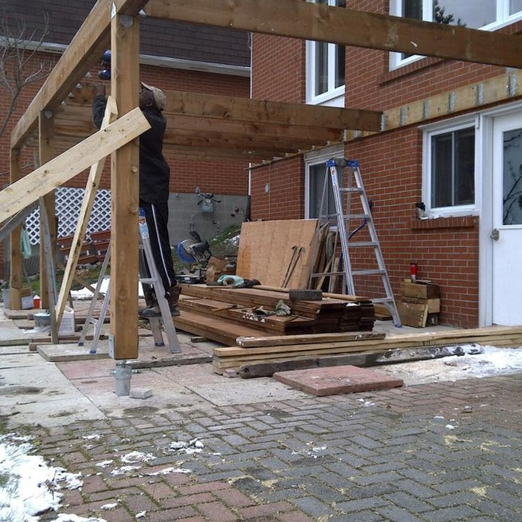Lively Sunroom Addition Construction Starting