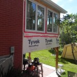 Lively Sunroom Addition Typar On