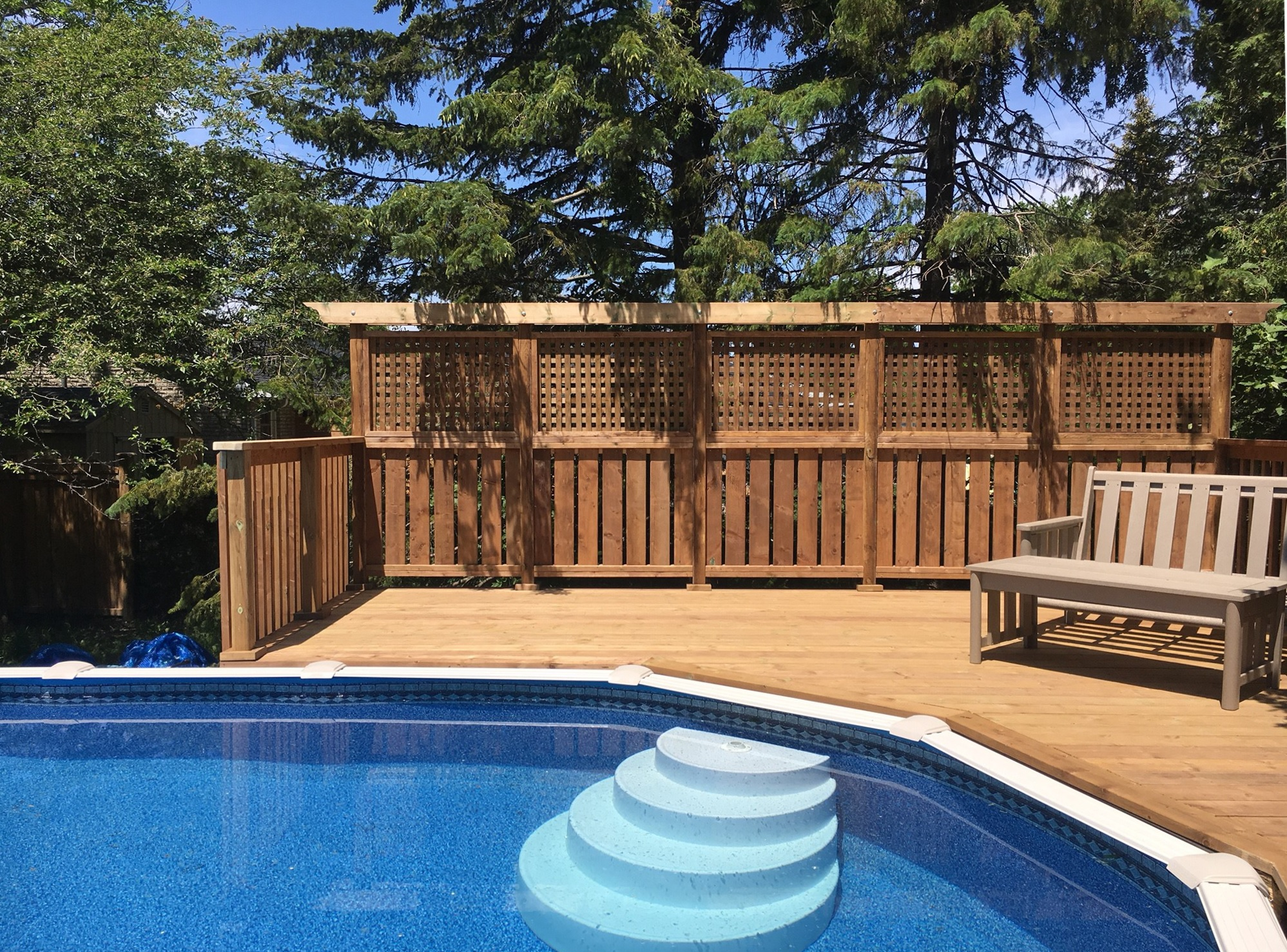 Keswick Pool Deck - After Construction Privacy Wall and Pool Edge