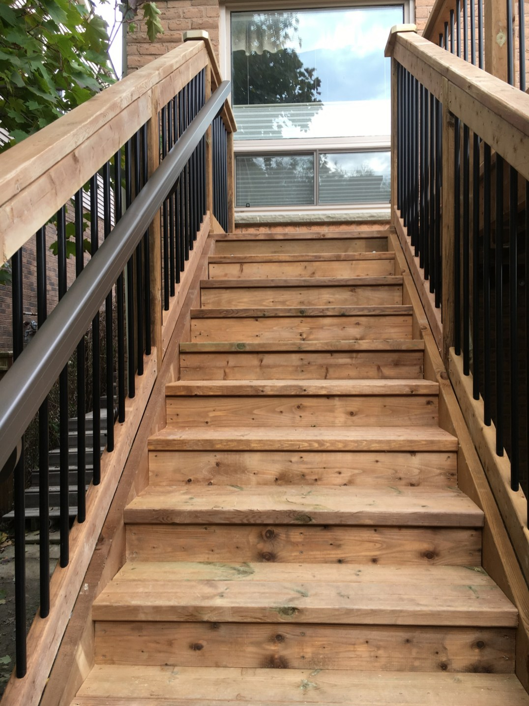 Delayne Drive Deck - After Construction Stairs Looking Up