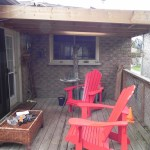 Bradford Deck - Before Construction Front View Close