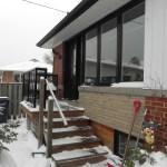 Etobicoke Addition & Reno - Before Construction Porch Front Right