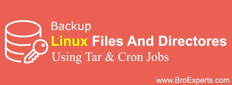 Backup linux files using tar and cronjob
