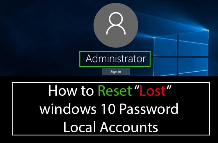 Reset-Forgotten-windows-10-password