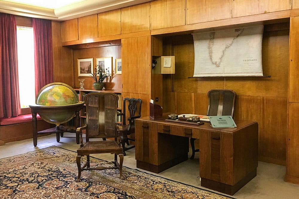 Eltham Palace Library London UK
