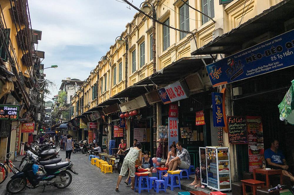 Ta Hien Street Hanoi Vietnam